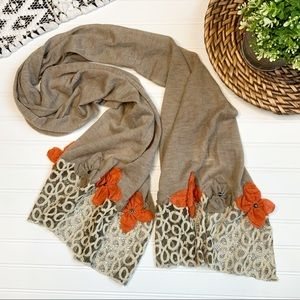 PRETTY PERSUASIONS Brown Scarf